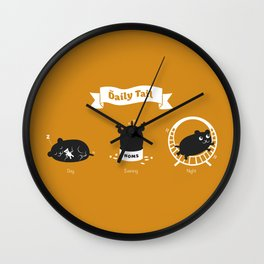 The Daily Tail Hamster Wall Clock