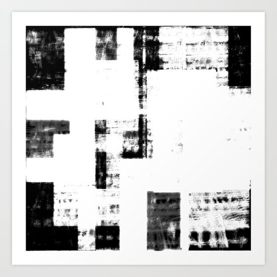 Black & White Abstract Series ~ 4 Art Print
