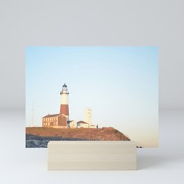 Sunset at Lighthouse in East Hampton Mini Art Print
