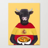 spanish Canvas Prints featuring The Spanish by Dano77