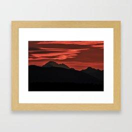 Mt Baker Sunrise Framed Art Print