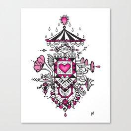 LOVE grows calliope Canvas Print
