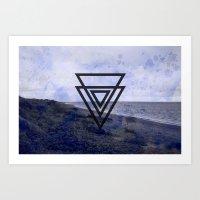 Beach splatter Art Print