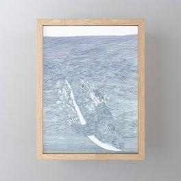 whale fall Framed Mini Art Print