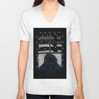 pumpkin V-neck T-shirts featuring Pumpkin by Marvelous Insanity