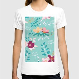 Exotic Flower Pattern T-shirt