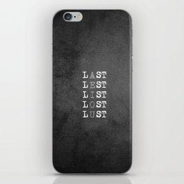 Vowels iPhone Skin