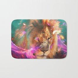 Lions Eating Galaxies Bath Mat