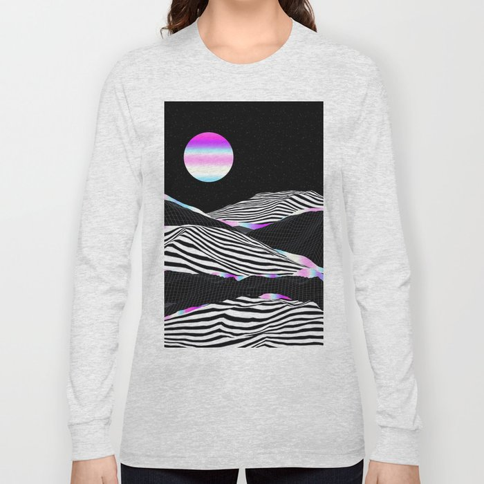Stripes Mountains Long Sleeve T-shirt
