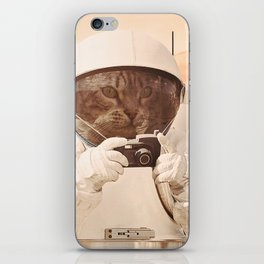 Astronaut Cat on Mars iPhone Skin