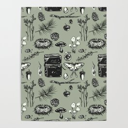 Forest Notes Poster
