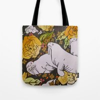 walrus Tote Bags featuring Walrus by Eliza LaCroix