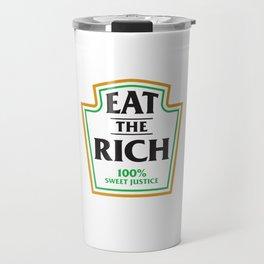 Eat The Rich Ketchup Label Travel Mug