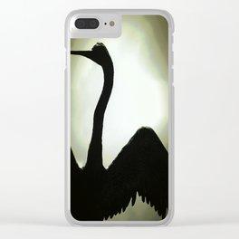 Basking Bird Shadow Clear iPhone Case