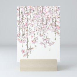 pink cherry blossom spring 2018 Mini Art Print