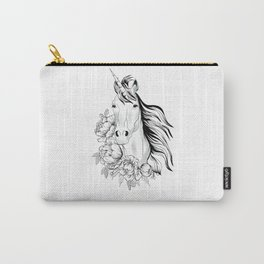 Unicorn floral art Carry-All Pouch