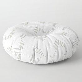 Simply Deconstructed Chevron Retro Gray on White Floor Pillow