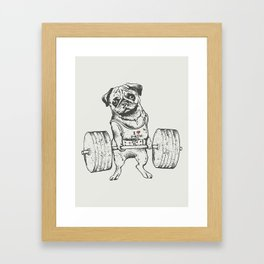 Pug Lift Framed Art Print