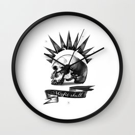 Chloe Price misfit skull Wall Clock