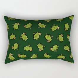 Frog Prince Pattern Rectangular Pillow