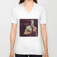 true detective V-neck T-shirts featuring True Detective by nlmda