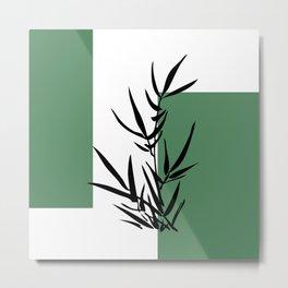 Bamboo geometry Metal Print