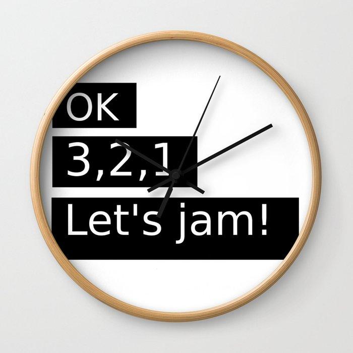 Let's Jam! Wall Clock