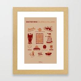 Doctor Who |Aliens & Villains Framed Art Print