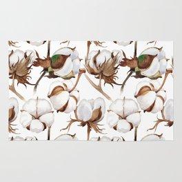 Cotton Flower Pattern 02 Rug