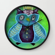 Quirky Bird 3 Wall Clock