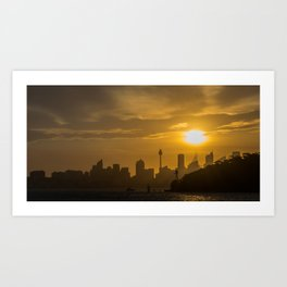 Sunset in Sydney (Australia) Art Print