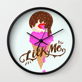 Lick Me, I'm Delicious Wall Clock