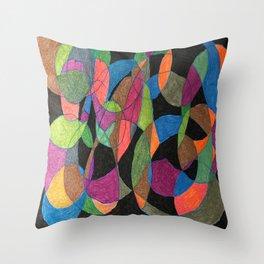 Intertwining Circles Throw Pillow