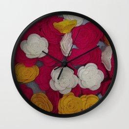 Mini Rose Flowers Wall Clock
