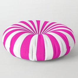 Starburst (Magenta/White) Floor Pillow