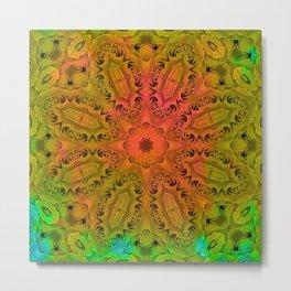 Abstract kaleidoscope of roses Metal Print