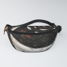 White Koi Collage Fanny Pack