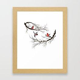 Christmas Winter Decorative BIRD Framed Art Print