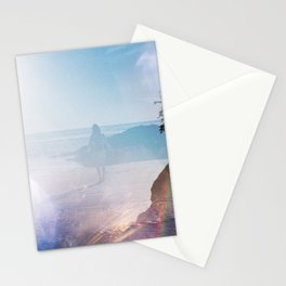 Alone on the Oregon Coast - 35mm Double Exposure Stationery Cards
