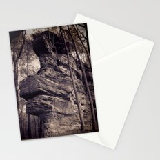 Rock in a mystical forest Stationery Cards