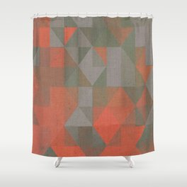 Faceted Vibes Shower Curtain