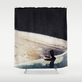 edge of uncertainty Shower Curtain