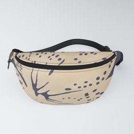 Soybean lily on eclipse blue Fanny Pack