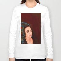 headdress Long Sleeve T-shirts featuring headdress by Rory Eastman