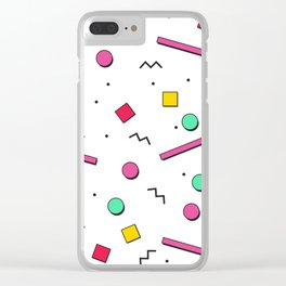 1980s retro pattern Clear iPhone Case