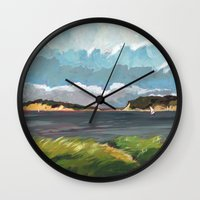 cape cod Wall Clocks featuring Wells Fleet Cape Cod by Gord Coulthart