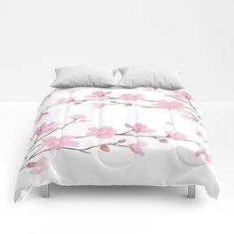 Cherry Blossom - Transparent Background Comforters