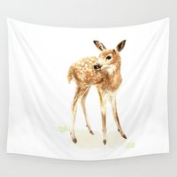 fawn Wall Tapestries featuring Fawn 2012 by ellaquaint
