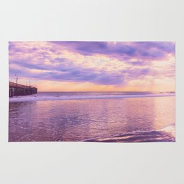 Solace by Sunset Cayucos pier and beach Rug