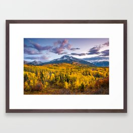 Chasing The Gold Framed Art Print